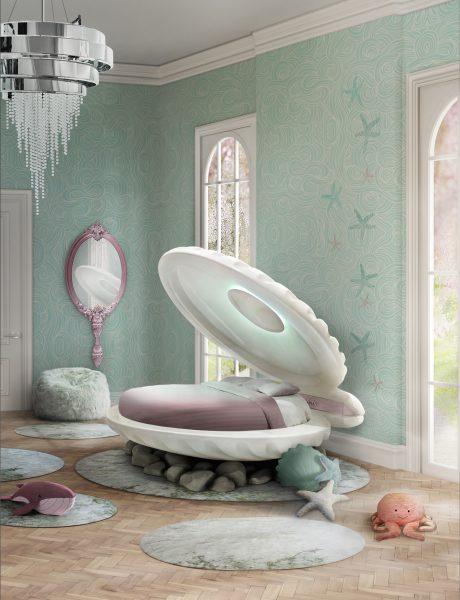 Little Mermaid Clam Shell Children's Bed